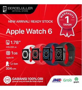 Apple Watch Series 6 (40MM) GPS ALUMINUM NEW Internasional