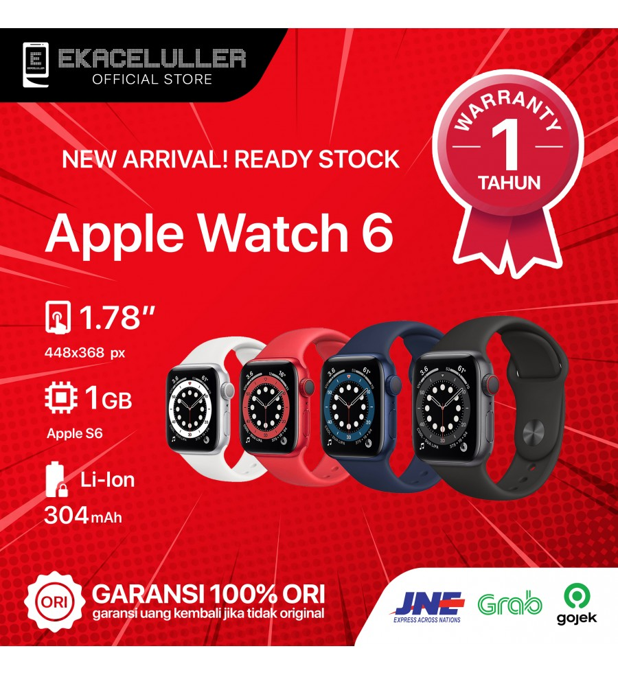 Apple Watch Series 6 (44MM) GPS ALUMINUM NEW Internasional