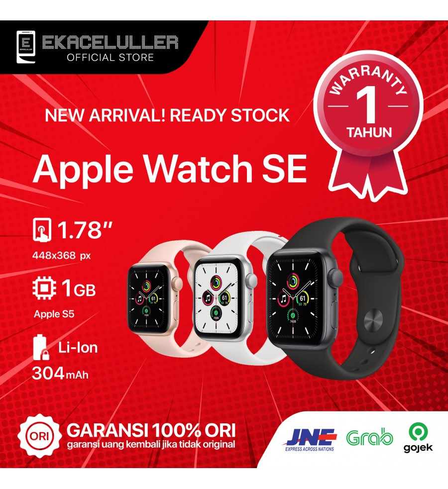 Apple Watch SE (44MM) GPS ALUMINUM NEW Internasional