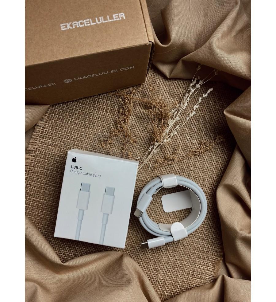 Kabel Type C to Type C 2M Original Internasional Garansi 6 Bulan  (Compatible for iPhone 8 Plus, X, XR, XS, XSMax, SE 2, 11, 11 pro, 11 Pro Max, 12 Mini, 12/12Pro, 12 Pro Max)