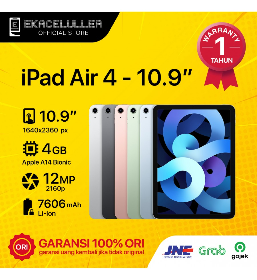 """iPad Air 4 (10,9"""") WiFi Only NEW Internasional"""